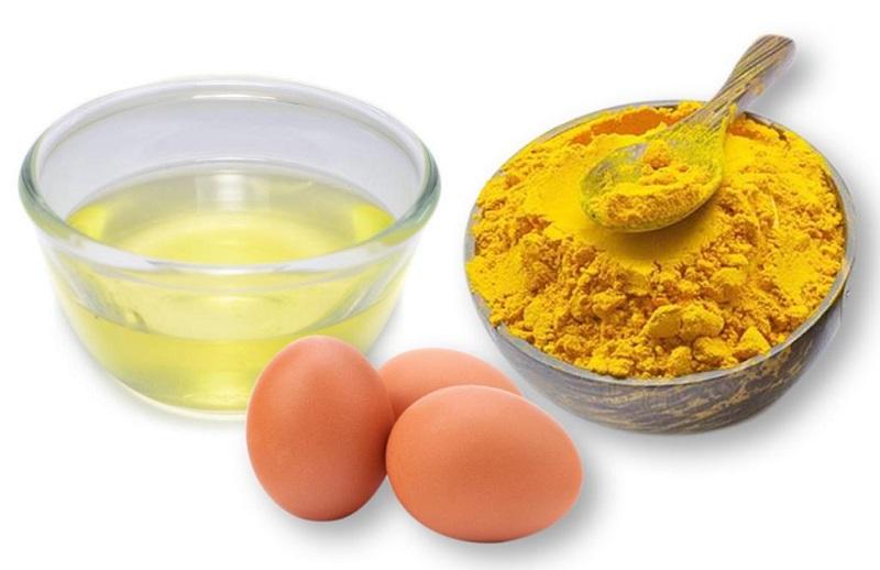 Hướng dẫn cách trị nám bằng nghệ và trứng gà